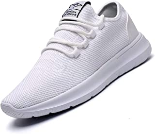 Vamtic Men's Sneakers Fashion Minimalist Lightweight Breathable Athletic Running Walking Shoes Slip-On for Tennis Volleyball Gym