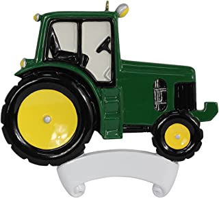 MAXORA Green Tractor Personalized Christmas Ornament