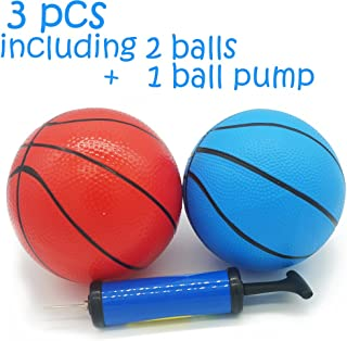 MICROFIRE Toddler Kids Replacement Basketball Inflatable Magic Shot Pro Mini Hoop Pool Basketballs Ball Toy with Pump 6-Inch Set of 2 pcs of 6