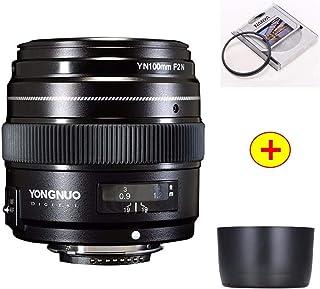 عدسة كاميرا - YN100mm F2N AF/MF عدسة تليفوتو متوسطة لنيكون D7200 D7100 D7000 D5600 D5300 d3400 d3100 D810/D750/D850