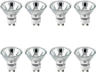 GU10 Bombillas, Paquete de 8 GU10 Halogena Transparente, Bombillas GU10 Regulable Blanco Cálido 2700K, 50W, 230V