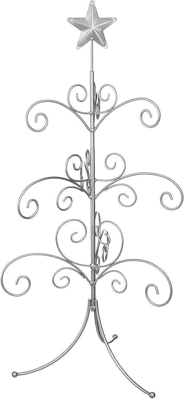 27 inch Silver Regal Metal Ornament Display Tree