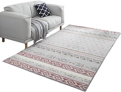 Nordic-Style Cashmere Large Carpet Living Room Sofa Rectangular Floor Mat Home Bedroom Bedside Thick Carpet Washable (Size : 140CM*200CM)