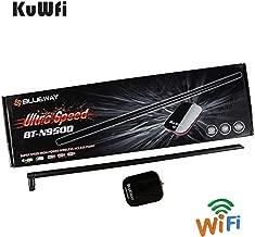 KuWFi High Power Wireless Antenna, Blueway BT-N9500 2000MW high Power USB WiFi Adapter with 18dbi Long ditance Antenna