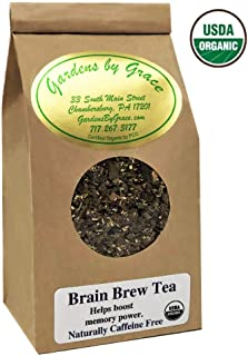 Tea for Brain Health, Mental Focus and Memory Boost, Concentration, Ginkgo, Good Health, Organic Herbal Loose Leaf, 4 ounces