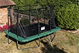 trampoline with net and ladder rectangular 396 x 274 cm green (2016)