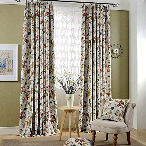 Gxi Blackout Curtains for Bedroom Thermal Insulated Room Darkening Curtains Panels Drapes for Living Room Hook Pleated,W39 x L47 Inch