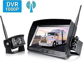 $229 » ZEROXCLUB Digital Wireless Backup Camera System Kit,HD1080P Wireless Reverse Rear View Camera,No Interference,IP69 Waterpr...