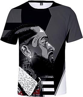 e2699b1f6b41 SIMYJOY Sudadera Nipsey Hussle Camiseta Béisbol 3D Impreso Rip Rapper Hip  Hop Street Rap Camiseta de