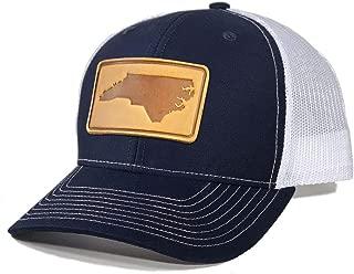 Homeland Tees Men's North Carolina Leather Patch Trucker Hat