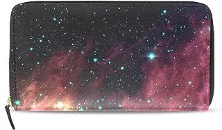 Womens Zipper Wallet Orion Nebula Constellation Galaxy Clutch Purse Card Bag