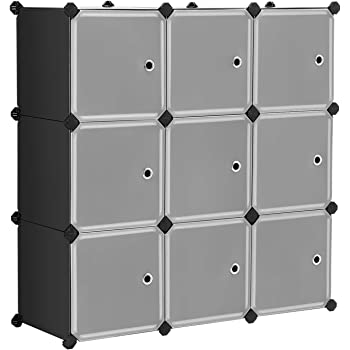 DIY Closet Organizer Media Storage Cabinet 6 Cube Toy Rack with Doors C/&AHOME Marble Color SYNCHKG103284