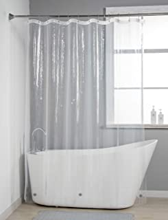 AmazerBath Lightweight Shower Curtain Liner, 72x72 PEVA 3G Shower Curtain Liner with Magnets and 12 Rust-Resistant Grommet Holes, Waterproof Thin Plastic Liners Without Funky Smell - Clear