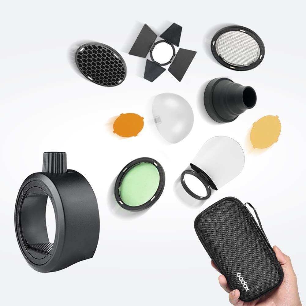 Godox S-R1 and AK-R1 Flash Snoot New Max 45% OFF Free Shipping Speedlight Barn Adapter Door