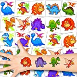 German Trendseller® 36 x Dino Kinder Tattoos - Set Tattoo - Dinosaurier Party ┃ Kindergeburtstag ┃ Mitgebsel ┃ Süße Kleine Dinos ┃ 36 Tattoos