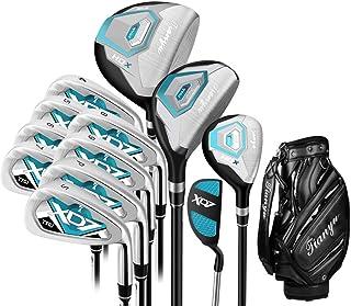 ゴルフクラブセット 12ピースゴルフクラブセット女性ゴルフ初心者buleゴルフパターゴルフ練習クラブセット用手袋付き女性 (色 : One color, サイズ : A2)