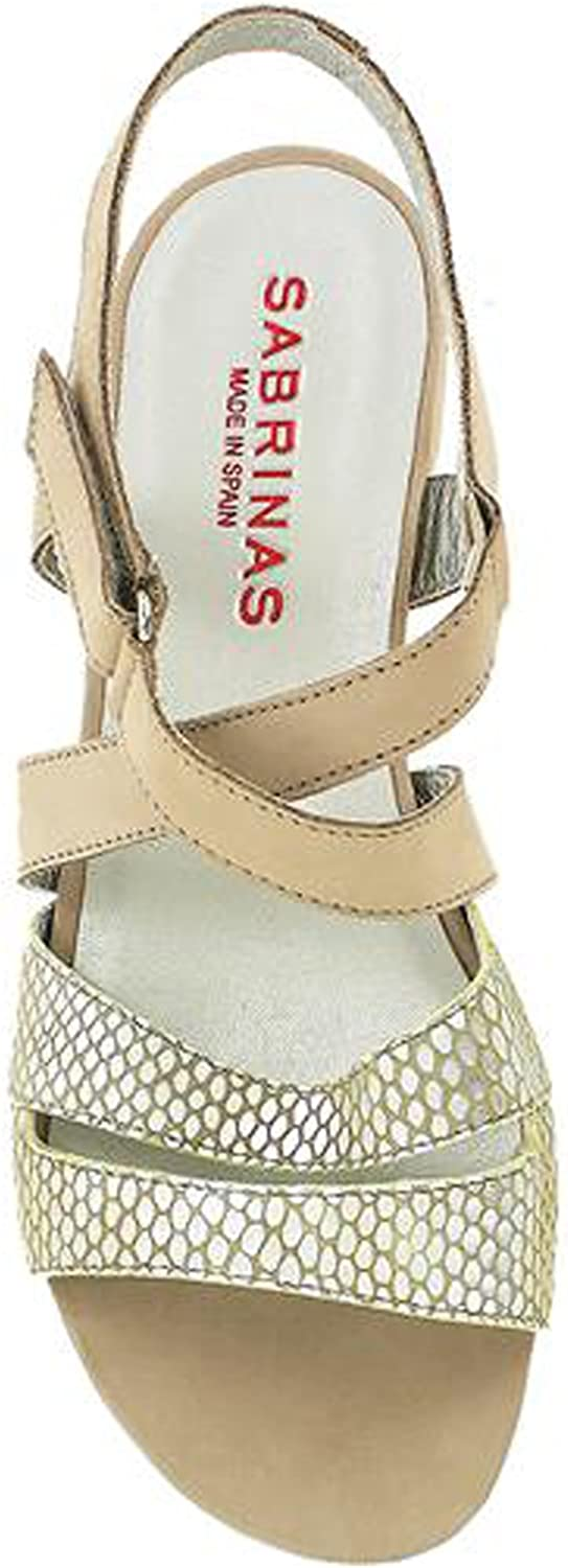 Sabrinas 55004 Ibiza Womens Nubuck & Reptile Leather Sandals Onyx Taupe 39 US 8.5