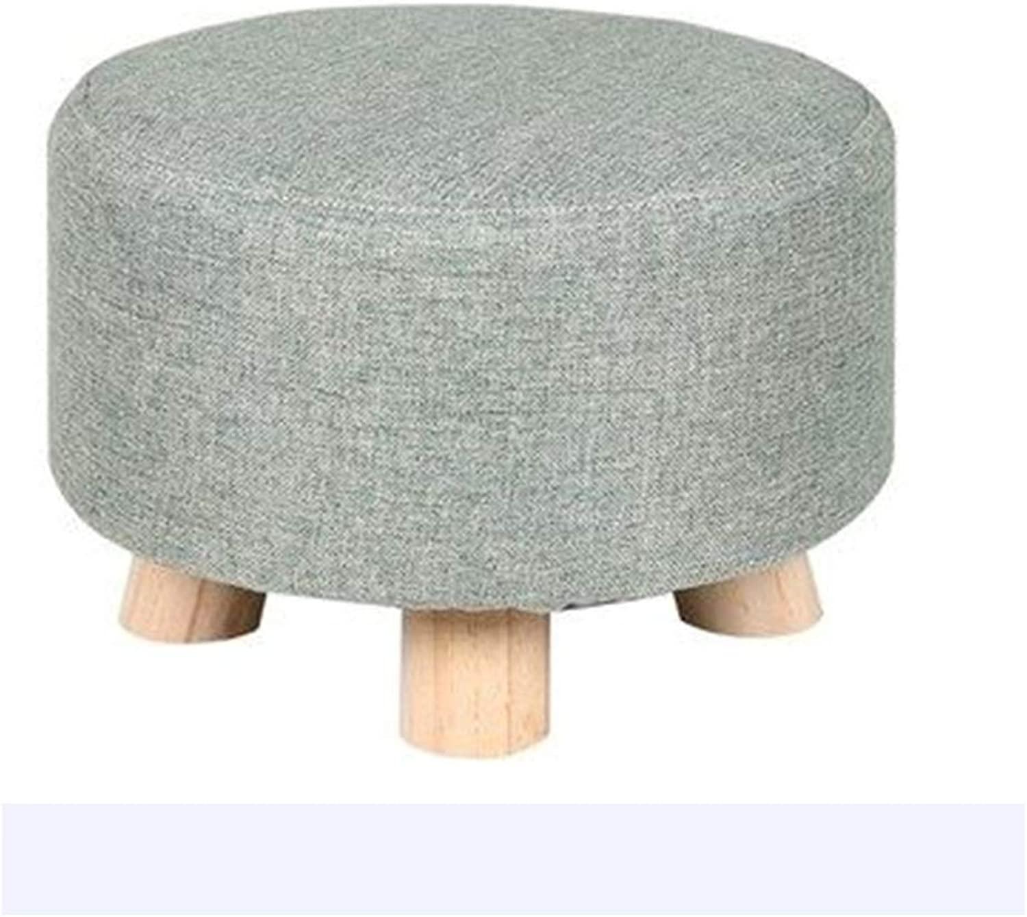 RHHWJJXB Solid Wood Stool Home Fashion Creative Small Stools Change shoes Stool Living Room Mound Bench Fabric Stool (color   B)