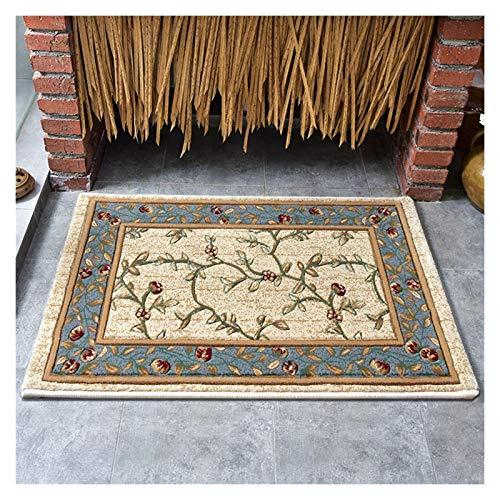 MTY Teppich Amerikanisch Home Teppich Türmatte Eingangshalle Schlafzimmer Wohnzimmer Teppich Nachttisch Couchtisch Decke Bodenmatten dick (Farbe : Pattern 2, Größe : 50X80CM)