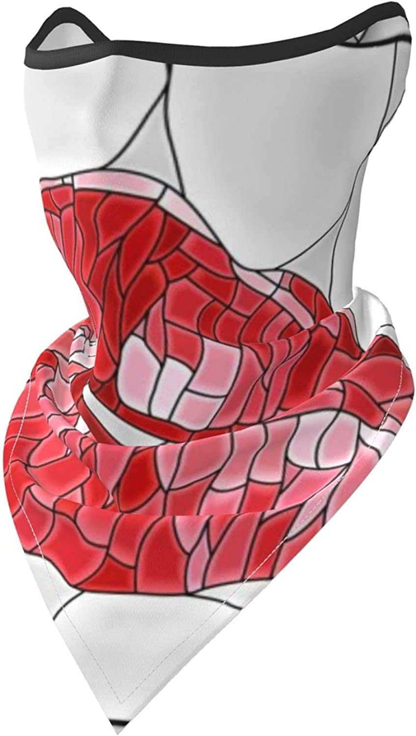 Mosaic Lip Breathable Bandana Face Mask Neck Gaiter Windproof Sports Mask Scarf Headwear for Men Women Outdoor Hiking Cycling Running Motorcycling