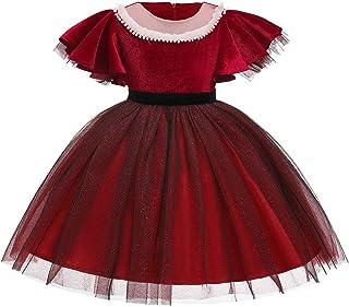 Vestido de princesa de las niñas Trajes de vestir a las niñas de manga corta de terciopelo vestido de los niños de la prin...
