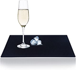 Beauenty Rubber Bar Service ,Mat Dish,Drying Mat ,Drink Coasters Leakproof for Bar Kitchen(6''x12'')