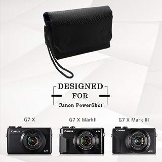 Funda para Canon G7X Mark III MUZIRI KINOKOO funda para cámara Canon G7X III/G7X II/G7X funda protectora con cierre magnético para Canon G7X Mark II Canon PowerShot G Series
