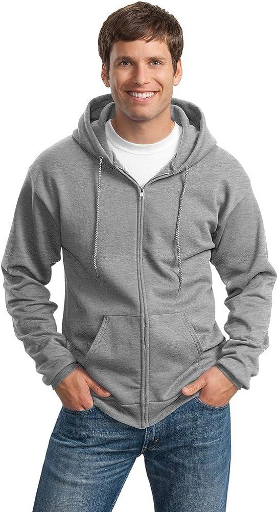 Port & Company Mens Tall Ultimate Full-Zip Hooded Sweatshirt