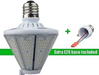 LED Corn Light Bulb 50W, 5000K Cone Led Bulb with Medium E26 & Mogul E39 Base, 6500Lm Led Flood Light (200W MH/HID Eq.), Post Top Wall Lantern High Bay Warehouse Garage Canopy