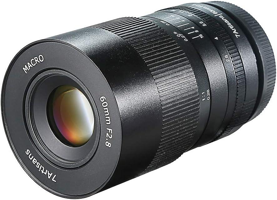 7artisans 60mm F2.8 Macro Lens APS-C Lente Fija Manual para cámaras Fuji X Mount X-A1 X-A10 X-A2 X-A3 X-a X-M1 XM2 X-T1 X-T10 X-T2 X-T20 X -Pro1 X-Pro2 X-E1 X-E2 X-E2s X-E3
