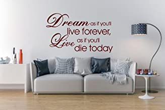 Sticker Studio Die Today Wall Sticker (PVC Vinyl,Size -58 cm x 96 cm)