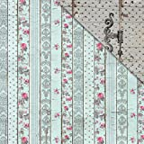"Shabby Rose Double-Sided Cardstock 12""X12""-Vintage Panels"