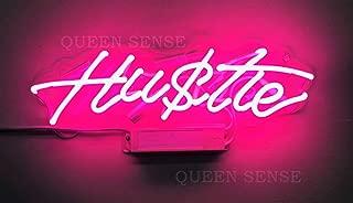 hustle neon sign pink