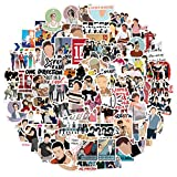 BSOA One Direction Stickers Pack, 100Pcs Waterproof Vinyl PVC Stickers Decals for Laptop Luggage Skateboard Motorcycle