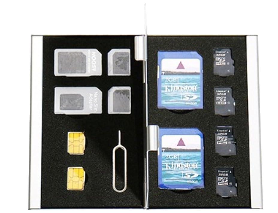 ペルメルに関して多くの危険がある状況[BlueCraft] SIM/SDカード収納はこれひとつで解決 全12枚収納 SIM?SDカードアルミケース SIMカード変換アダプタセット付属 (ブラック)