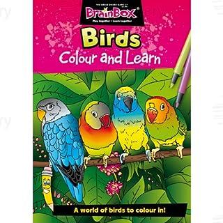 Brainbox Colour and Learn Birds Colouring & Fact Book