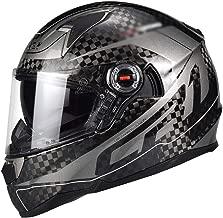Carbon Fiber Motocross Helmet for Men Black Motorbike,Cross Helmet Full Face MTB Helmet Motorcycle Crash Helmet for Downhill Dirt Bike MX Quad Bike ATV Sports,ECE Approved