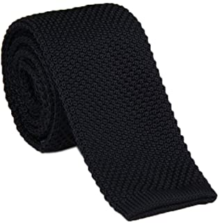 Men's Supper Skinny Knitted Tie Solid Colored Smart Casual Necktie Various Color