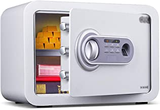 Safe Box Digital Cabinet Safe Key Lock Box Home Steel Safe Wall/Floor Mounted Storage Box for Office Hotel Jewelry Cash Me...