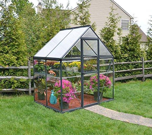 Palram Canopia Hybrid Greenhouse 6x4 Grey