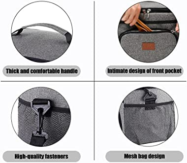 Insulated Cooler Lunch Bag, 24-Can (15L) Insulated Lunch Box with Adjustable Shoulder Strap, Keep warm and cold, Keep Food De