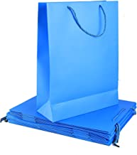 Rosymoment Party Paper Gift Bag, Blue, YA-3, 12 Pieces