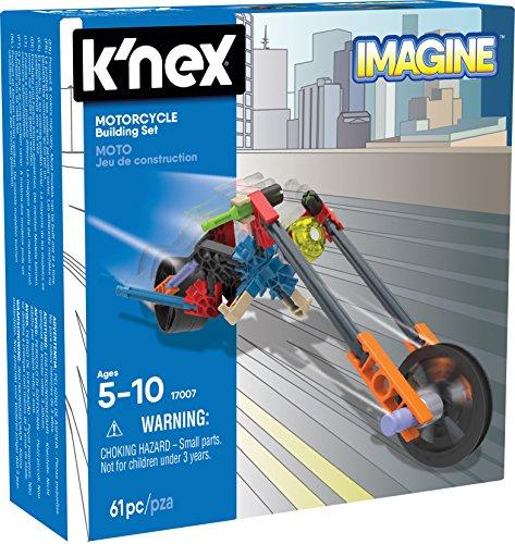 K'NEX Imagine Juego de construcción de motocicletas para edades de 5 + Juguete de construcción, 61 piezas , color/modelo surtido