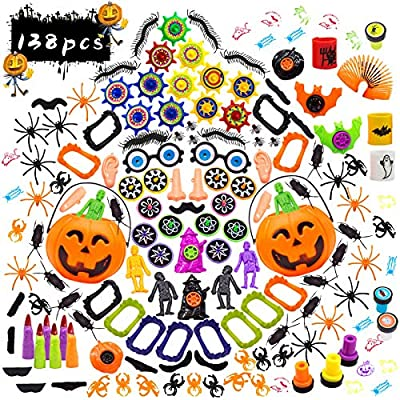 138 Pieces Halloween Party Favors for Kids, Halloween Toys Assortment Gift Bulk