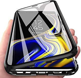 ColiColi f/ür Samsung Galaxy Note 10 Pro H/ülle Transparent Panzerglas 360 Grad Magnet Handyh/ülle Clear Doppelseitige Geh/ärtetes Glas Schutzh/ülle Vorne Hinten Rundumschutz D/ünn Metall Bumper Silber