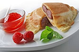 Rojo's Famous 100% Plant-Based Frozen Pancake Breakfast Sandwich (Pack of 12)/Apple Maple Sausage & Creamy Chao Cheese Wrapped Inside A Freshly Made, Vegan Pancake/A Healthy Breakfast Alternative