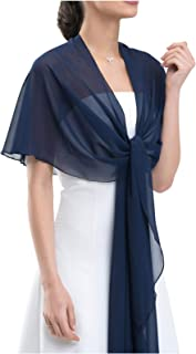 Chiffon Bridal Formal Evening Stole Shawl Wrap – CIRCULAR: Prevents sliding off
