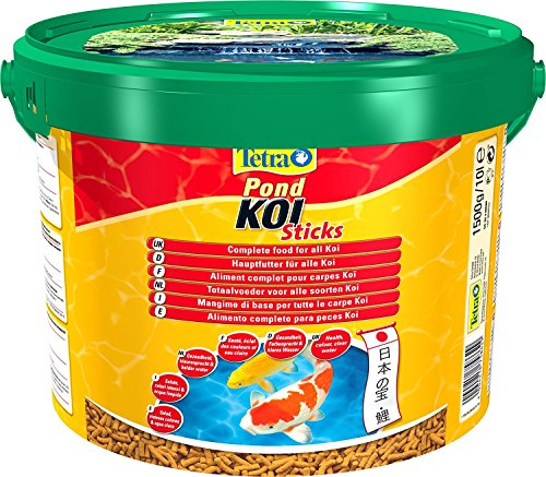 Tetra Pond Koï - Aliment Complet Premium pour Carpes Koï de Bassin – Activateur Naturel de Couleurs - Enrichi en Oligo-éléments, Vitamines essentiels, Caroténoïdes – Hautement digestible - 10 L