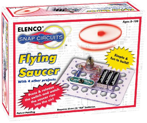 Snap Circuits Flying Saucer Kit Discovery Kit | 5 UFO Projects | 4Color Project Manual | Lots of STEM Fun