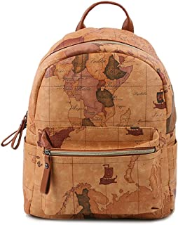 Copi Women's Map Print Pattern Collection Fashion Backpack One Size Camel